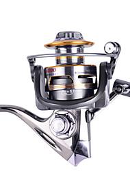 2000 Size 5.2:1 Full Metal Reel 12+1 Ball Bearings All Metal Sea Fishing Saltwater Fishing Spinning Fishing Reel
