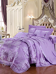 Yuxin®Tencel Modal 4-Piece Wedding Bedding  Satin Jacquard Kit  Bedding Set
