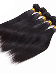 "4 pcs/Lot 8""-30"" Indian Virgin Hair Straight Natural Black Human Hair Weave Bundles"