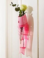 Fish Furnishing Articles Glass Flower Vase Wall Mounted Vase For Wedding Decor