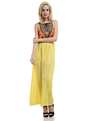 Women's Bohemia National Print Party Sleeveless Maxi Dress