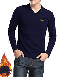 High Quality  Men's Long Sleeve T-Shirt,Cotton / Polyester Casual / Sport Pure Breathable Comfortable T Shirt