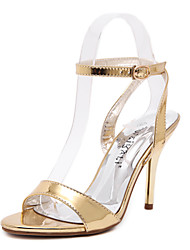 Women's Shoes Leatherette Chunky Heel Heels Heels Casual Silver / Gold
