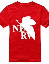 Inspirado por NeonGenesis Evangelion Ayanami Rei Anime Fantasias de Cosplay Cosplay T-shirt Estampado Preto Manga Curta Japonesa/Curta