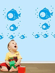 Cartoon Cute Nursery Daycare Baby Room Home Decoration Vinyl Wall Art Poster Wall Stickers Blue Sea Fish Doug