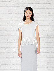 Meters/bonwe Women's Round Neck Sleeveless Maxi Dress-233990