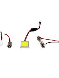2pcs anima kia 12v 3w pannocchia ha condotto lampada di lettura, lampada porta con super luminoso bianco