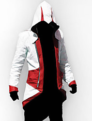 Inspired by Cosplay Video Game Assassinator Connor Jacket/Coat Cosplay Hoodie Cosplay Costumes Cosplay Suits Patchwork Long Sleeve Coat
