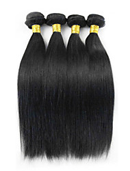 """top 4pcs grau 8a / lote 12 """"28"""" cabelo brasileiro do cabelo preto natural reta remy brasileiro do cabelo humano não transformados tece"""