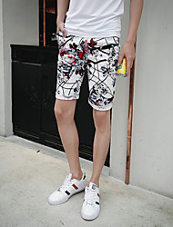 Men's Shorts,Casual / Plus Sizes Print Cotton