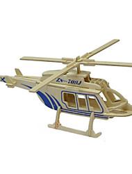 3d puzzle solido puzzle di legno modello di elicottero giocattolo di legno