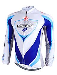 Nuckily Maillot de Cyclisme Homme Manches longues Vélo Maillot Hauts/Tops Etanche Garder au chaud Pare-vent Bandes RéfléchissantesVelours