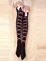 Chaussettes/Bas Punk Lacets Noir Accessoires Lolita  Bas Nœud papillon Pour
