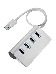 Aluminum Alloy 4-Port USB 3.0 Hub