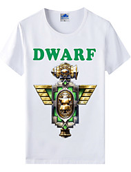 Flaming Light Cotton Lycra Men's T-shirt/World of Warcraft Wow Series Heroes T-Shirt/Dwarf 1Pc