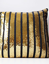 Striped Sequins Lined up Cusion Cover / Pillow Case / Pillow Cover ,  Euro, No Insert