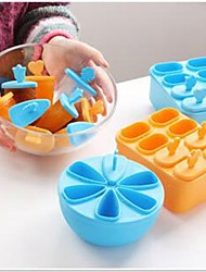1Set Pop Mold Popsicle Maker Lolly Mould Tray Pan Kitchen Ice Cream DIY