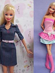 Muñeca Barbie-Multicolor-Informal-Lienzo / Satén Elástico-Vestidos-Vestidos
