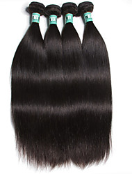 "4 Pcs /Lot 8""-30"" 5A Brazilian Virgin Hair Straight Human Hair Extensions 100% Unprocessed Brazilian Remy Hair Weaves"