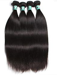 """4 unidades / lote 8 """"-30"""" 5a brasileiras do cabelo virgem reta extensões de cabelo humano 100% cabelo remy brasileiro tece não"""