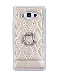 For Samsung Galaxy Case Ring Holder / Embossed Case Back Cover Case Lines / Waves TPU Samsung A7 / A5