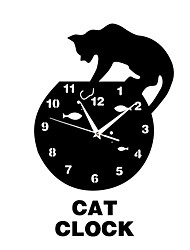 Selling Novelty Products Acrylic Clock Kitten