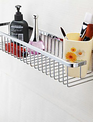 Bathroom Shelf Chrome Wall Mounted 31*23*18cm Stainless Steel Contemporary