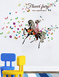 SK9005 The Little Princess and Steed Graphic Wall Vinyl Children Fairy Tale Sticker Decals for Kids Room Decor
