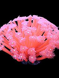 Оформление аквариума Орнаменты / Коралловый Искусственная / Нетоксично и без вкуса Пластик