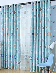 Deux Panneaux Moderne Rayure Comme image chambre d'enfants Polyester Rideaux occultants rideaux