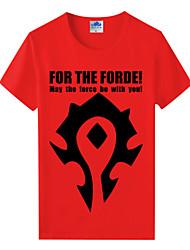 мир варкрафт вау племенного союза красный хлопок лайкра короткий рукав косплей футболки