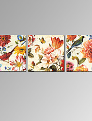 VISUAL STAR®3 Panel Traditional Chinese Canvas Prints for Home Decoration Vintage Wall Art Ready to Hang