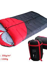 Saco de dormir Retangular Solteiro (L150 cm x C200 cm) / Algodão 400g 190CM+30CMX75CM Equitação / Campismo / Viajar / Caça / ExteriorÁ