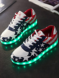 Women's Men's Shoes Leatherette Spring Summer Fall Light Up Shoes Flat Heel Lace-up For Athletic Casual Outdoor Blue