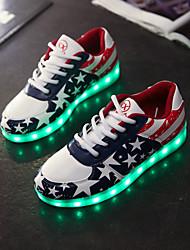 женская обувь водить USB зарядка кожзаменителя моды кроссовки на открытом воздухе / спортивная / вскользь синий