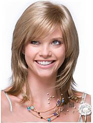 la nouvelle europe et les etats-unis lin longues perruque synthétique cheveux raides d'or.