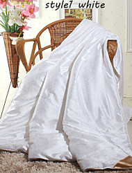 Winter Silk Comforters White Beige Pink