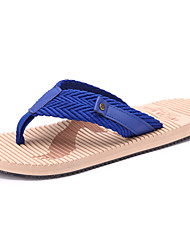 Men's Shoes Outdoor / Casual Style Fashion Slip Resistant Linen / Fabric Flip-Flops Blue / Red