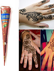 Natural Herbal Henna Cones Temporary Tattoo Kit Body Art Mehandi Ink Kaveri(1pcs)