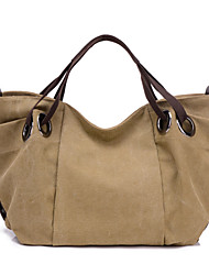 Women Bags All Seasons Canvas Tote with for Casual Gray Coffee Blue Khaki Purple