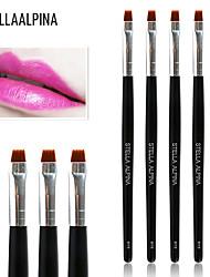 Stellaalpina Lip Brush Nylon Professional Makeup Brush Professional Wood Lip
