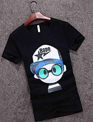 The summer of 2016 new Korean Men T-shirt short sleeve T-shirt boys hip hop trend slim white half sleeve shirt