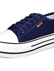 Scarpe Donna-Sneakers alla moda-Tempo libero / Formale / Casual-Comoda-Piatto-Di corda-Nero / Blu / Bianco
