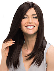 New Brown Long High Quality Synthetic Straight Sexy Wigs Free shipping