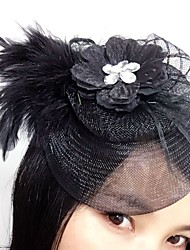 Women's Feather Net Headpiece-Wedding Special Occasion Fascinators 1 Piece