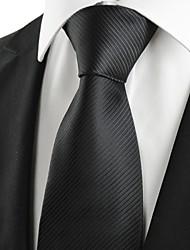 Cravate(Noir,Polyester)Rayé