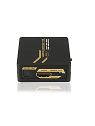 V1.4 HDMI to HDMI +SPDIF/3.5mm Audio Mini Converter 5.1CH/2.1CH with CE FCC RoSH Certificates