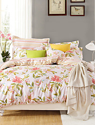 Love Flowers,  High-end Full Cotton Reactive Printing Pattern  Bedding Set 4PC, Queen/ Full Size Quality Goods