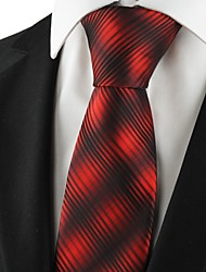 New Striped Gradual Red Mens Tie Formal Suits Necktie Party Wedding Gift KT1065