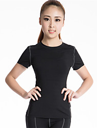 Running Compression Clothing Women's Short Sleeve Breathable / Quick Dry / Compression / Sweat-wicking Polyester / ElastaneYoga / Fitness